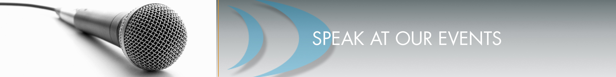 speak at events banner
