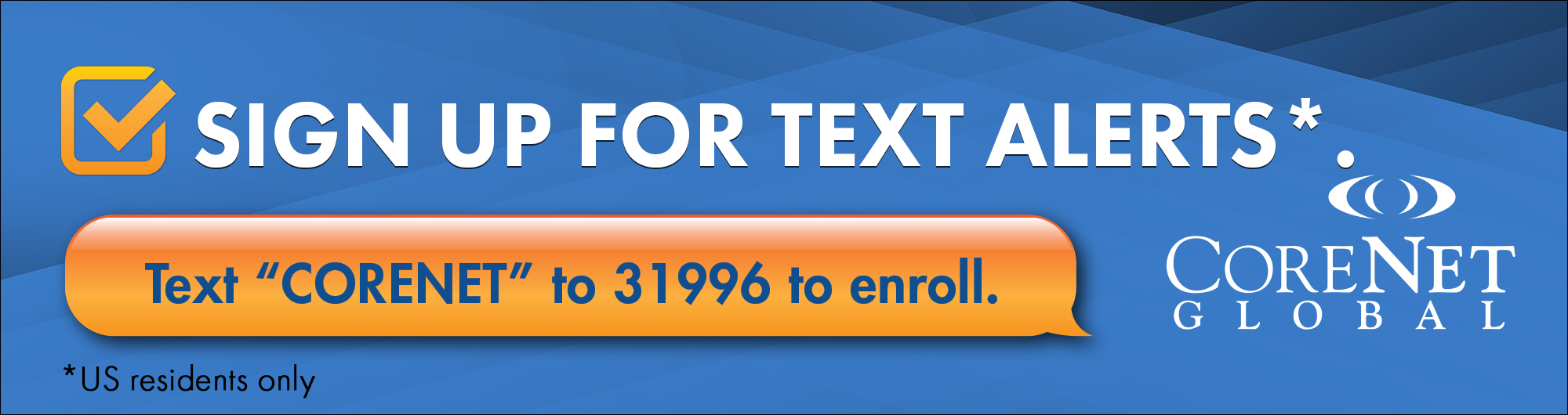 Home page Text Alert Banner 2019